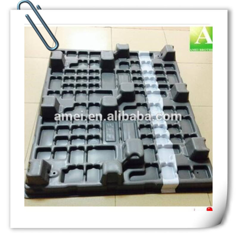 Heavy duty Large Stackable Customized Tray HDPE Thermoforming Euro Reinforced Plastic Pallet Tray