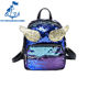 2018 Women Sequins Backpacks Fashion Cute Shiny Wings Shoulder Bags for Teenager