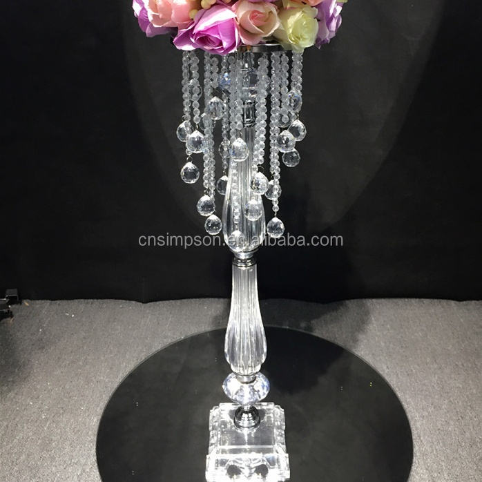 acrylic Beaded Table Top Chandelier Centerpieces Wedding table Decorations