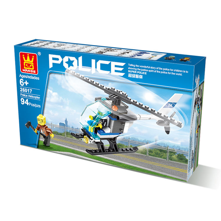 handmade new year fancy smart intellect magic puzzle police plane building block toy