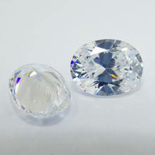 Oval cut cubic zirconia loose gemstone synthetic crystal gems for 925 silver jewelry