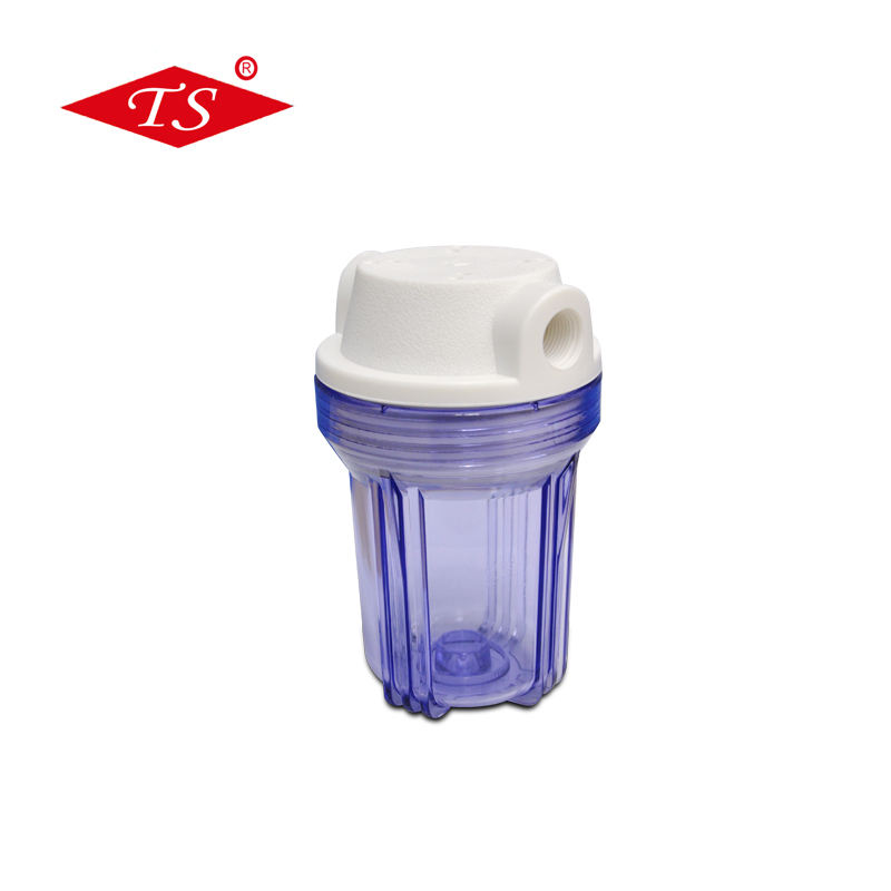 5 inch transparent clear water cartridge filter housing in Reverse Osmosis