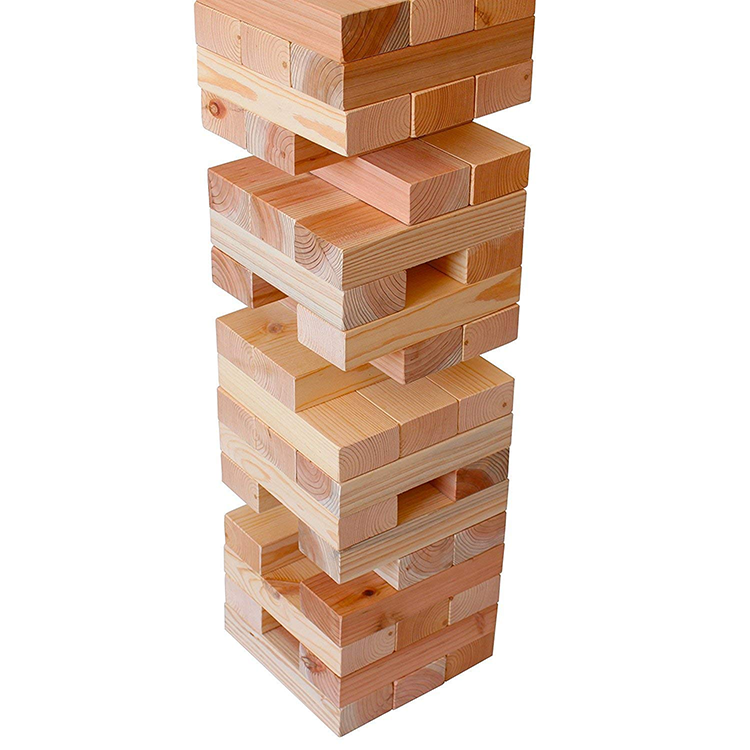 wholesale custom wooden giant classic game tumbling tower blocks toys set for adult and kids
