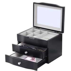 Luxury Desk organizer jewelry wood box with drawers