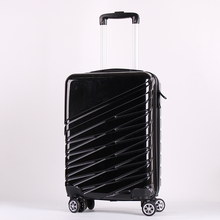Expandable Abs Printed Black Hard Shell Suitcase Trolley