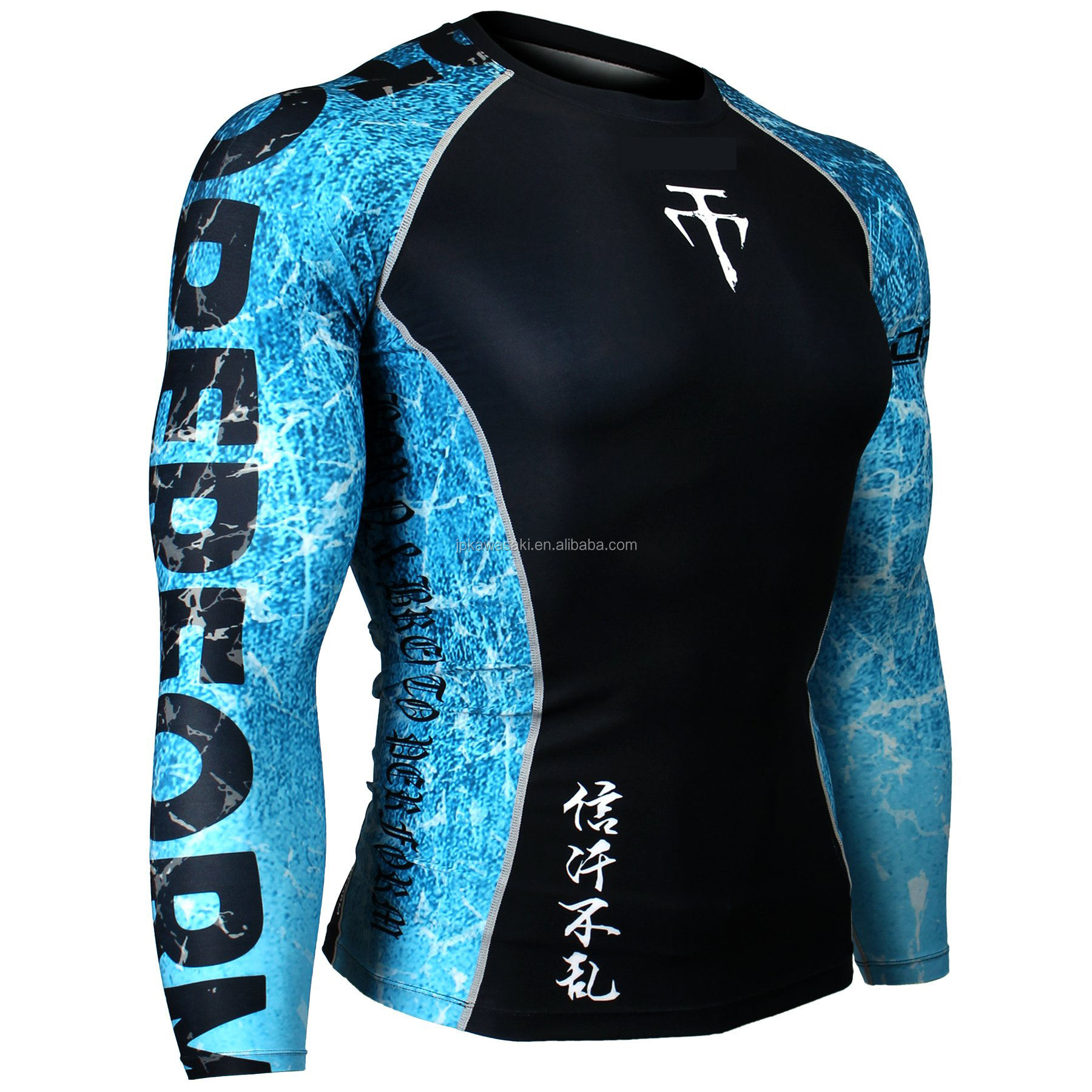 2021 Desin Your Own MMA Men's Rashguard Shirt Custom Sublimated Compression bjj Rash Guard
