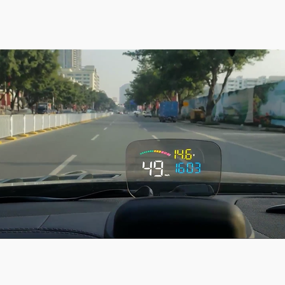 2019 OBD2 + GPS HUD C800 Auto Head Up Display met transparante reflectie board werk voor alle auto uit China fabriek