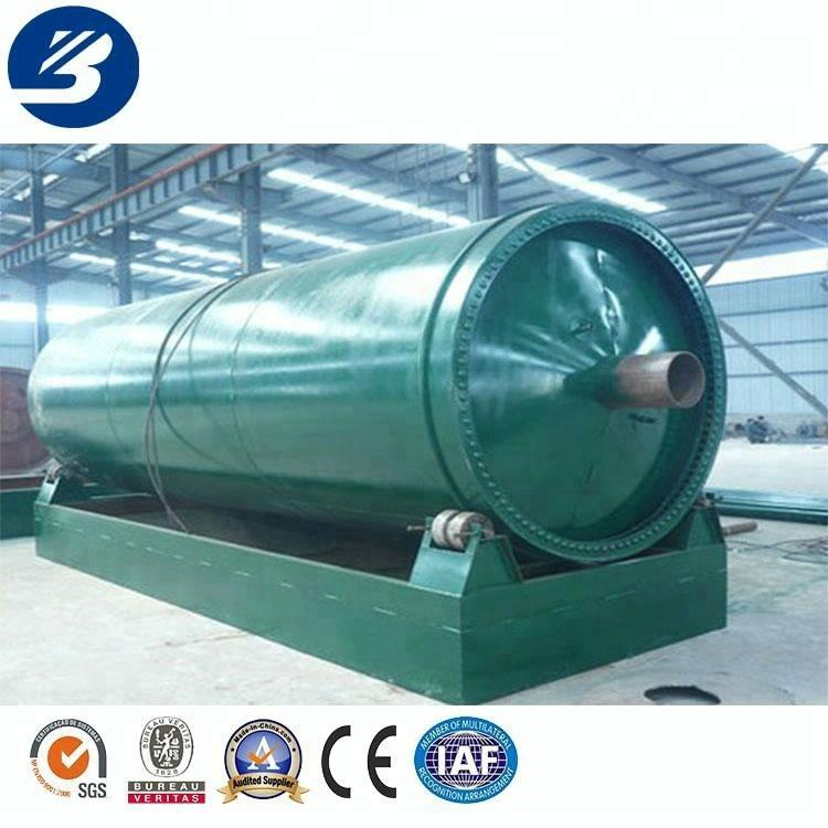 Beston use waste tyre plastic pyrolysis to oil machine with CE ISO