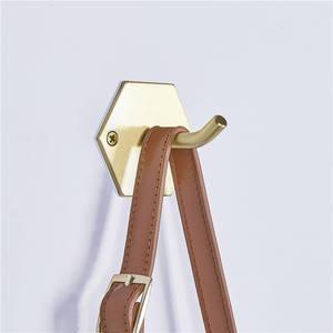 High Quality Hexagon Brass Wall Mount Single Coat Hook