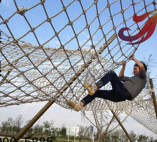 cargo climbing training sisal rope net obstacle race,sling net, fall prevention net safety netting playground