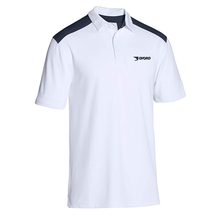 Custom Design 100% Polyester Men Rugby White Sports Clothes Polo Shirts