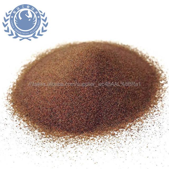 Più difficile minerali di taglio abrasivo 80 mesh rosso sabbia di granato per il Taglio di Rame