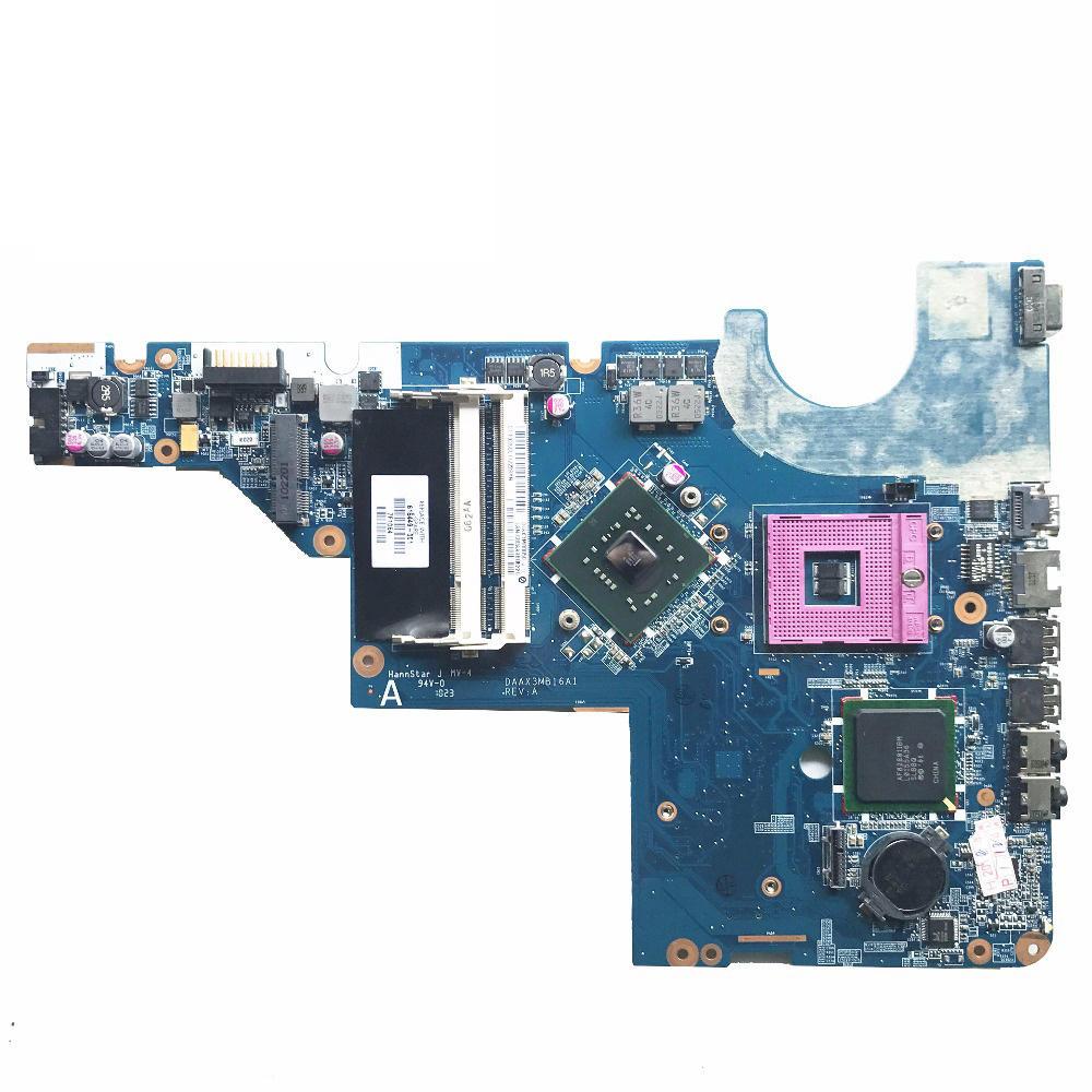 For HP G56 G62 G72 CQ62 laptop Motherboard 616449-001 DAAX3MB16A1 Intel CPU