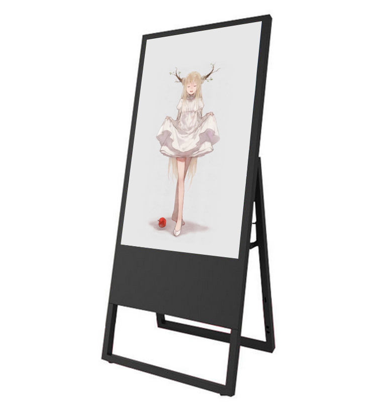 Portable LCD Digital Signage 43 Inch Floor Stand Video Wall LCD Digital Signage Indoor Tampilan Iklan