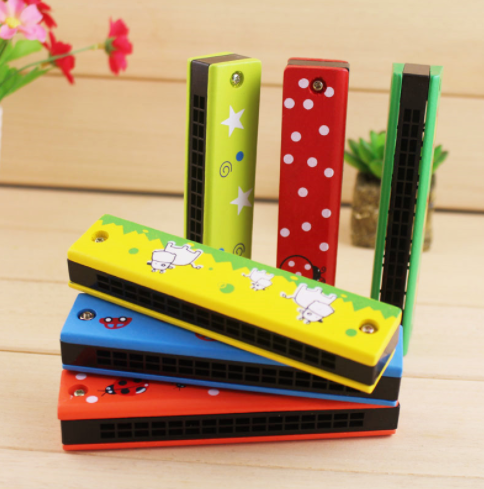 Amazon hot sale high quality wooden mini harmonica prices harmonica