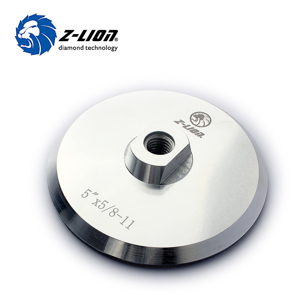 "Z-LION 5"" M14 or 5/8-11 Aluminium Based Backer For Polishing Pad Nylon Hoop & Loop Backer Pad"