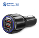 High Quality 12V Dual USB Port QC3.0 3.1A Quick Car USB Charger 2 Port USB Car Charger with retail package