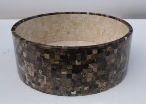 Pure Natural Stone bathroom wash basin black marble sink