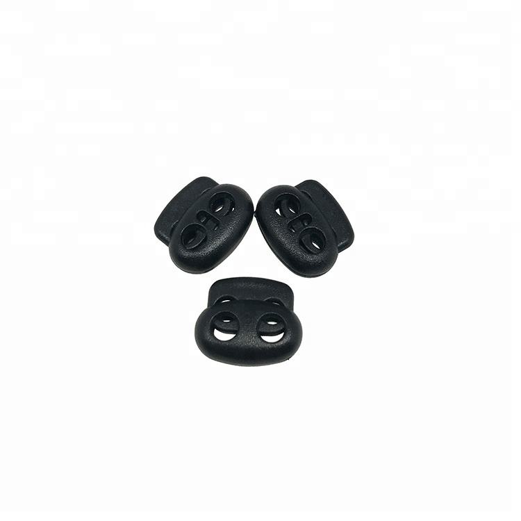 Small Size Black Plastic Adjustable Flat Pig Nose Cord Stopper For Wholesale