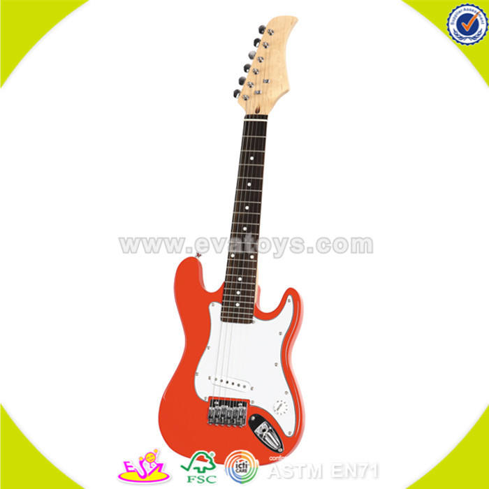 wholesale high quality kids wooden toy guitar hot sale baby wooden toy guitar W07H010