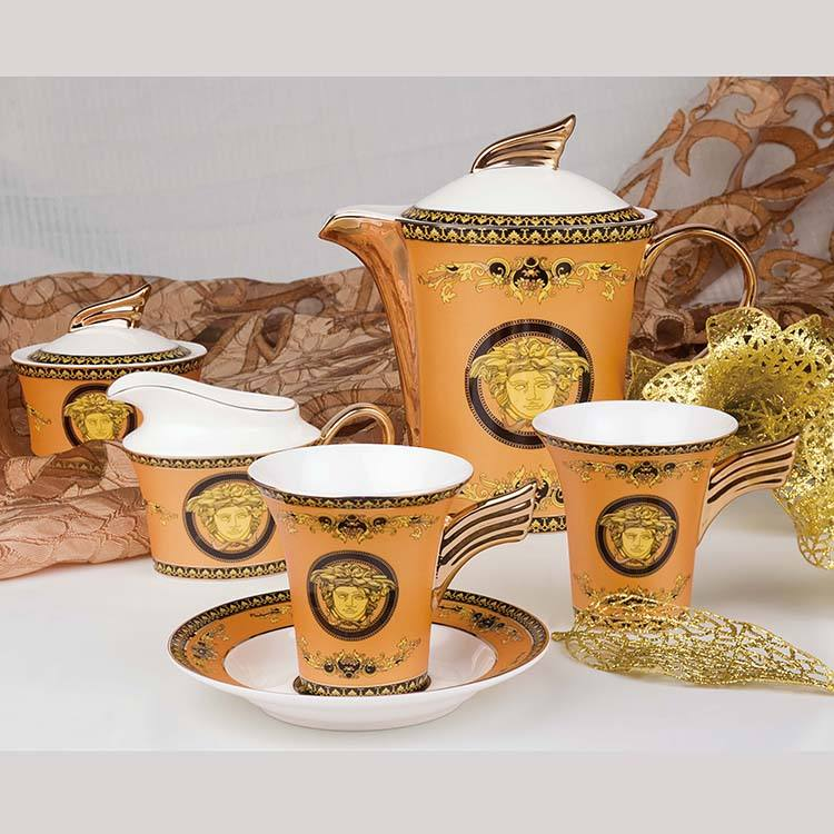 15pcs Bone china european royal household coffee set tea set cup and saucer