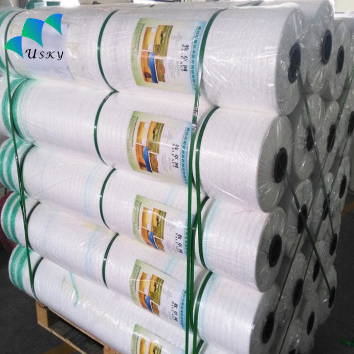 Customized Agriculture Bale Net Wrap , White Hdpe Raschel Knitted