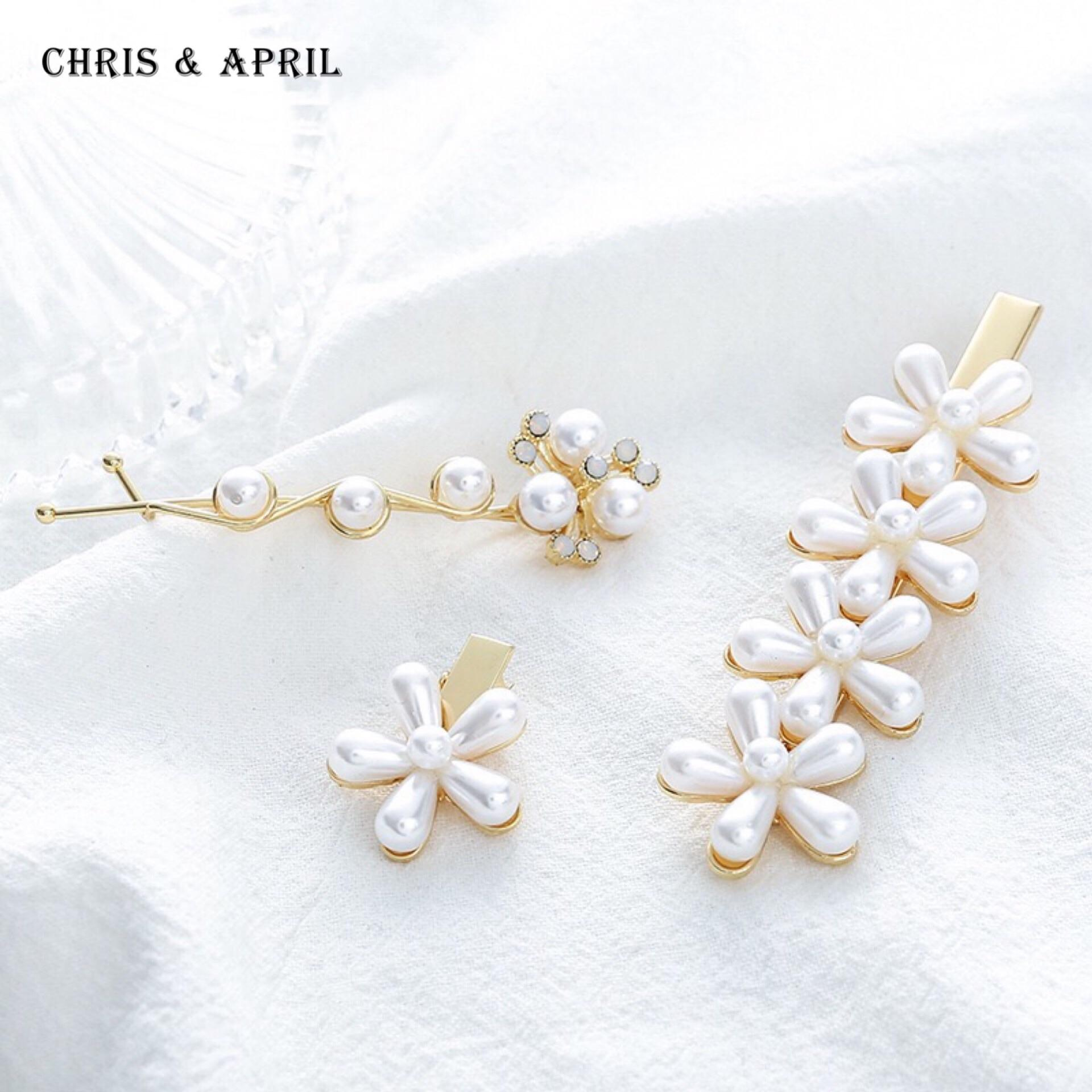 In Stock Pearl Flower Hairpin for Bun