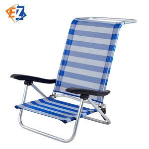 Aluminium Folding Recling Lightweight Beach Chair with Armrest