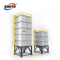 Plastic hopper dryer storage barrel for raw material