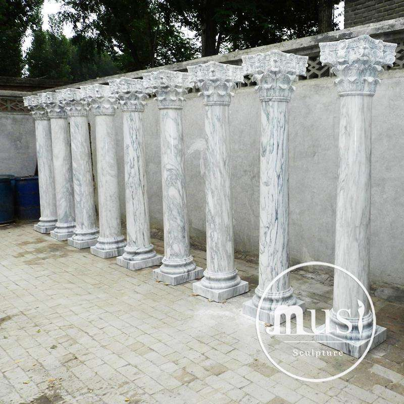 New Design Popular Large Size Hollow Roman Marble Pedestals