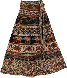 Elegant Wrap around Skirts from India in Cotton @ Best Prices