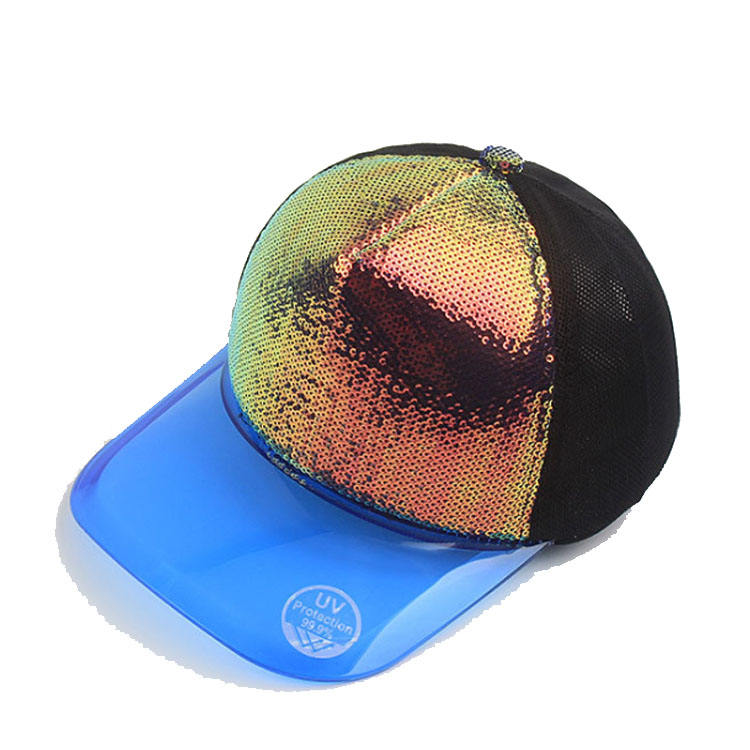 Summer PVC breathable bonnet baseball cap fashion sequins cap