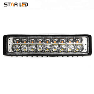 7 pulgadas al por mayor de doble color 30 W ámbar blanco Super Slim coche LED barra de luz