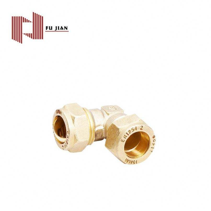 Fujian Berlapis Nikel Lurus Kuningan Pipa Fitting, Karet Compression Fitting