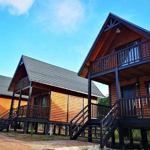 OEM ODM duplex one bedroom and one living room modular log cabin homes canadian prefabricated wooden house villa