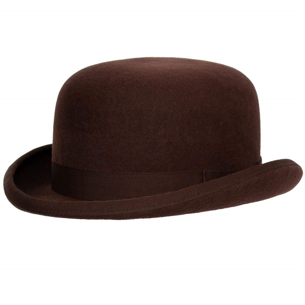 Wholesale Fleming Firm Felt Derby Bowler Hat 100% Wool