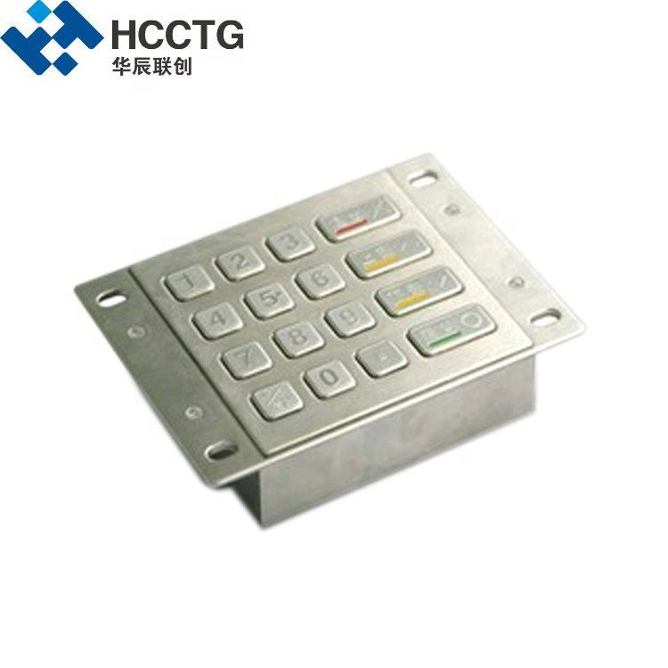 RS232 Waterproof Braille USB Numeric Metal Keypad HCC3501A
