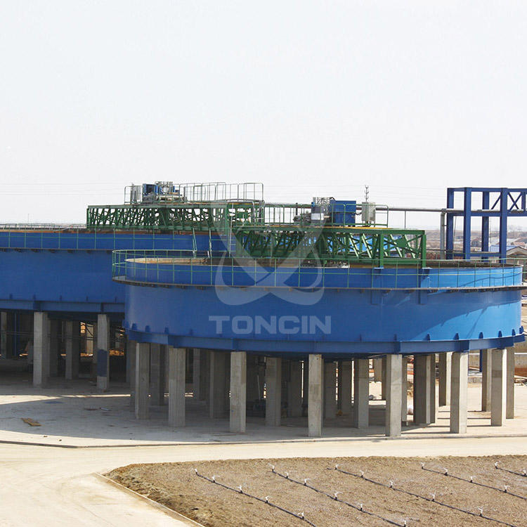 High rate copper ore mining thickener for zambia copper beneficiation process
