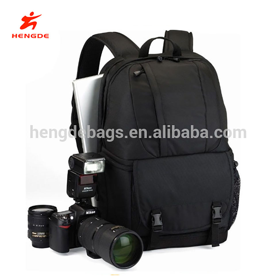 15 polegada Preto DSLR Camera Bag Laptop Backpack