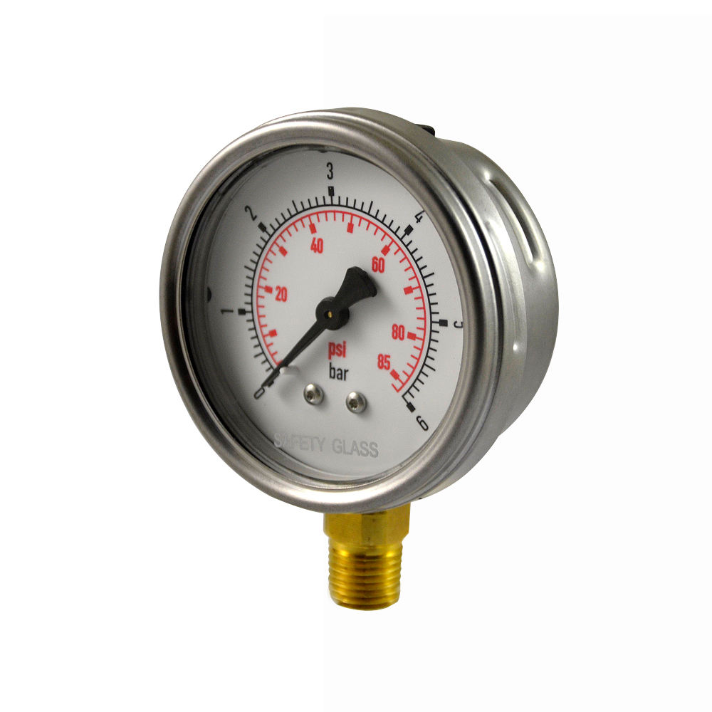 2.5 inch stainless steel case Silicone oil 채워진 압 gauge hydraulic oil pressure 게이지를 제조한다