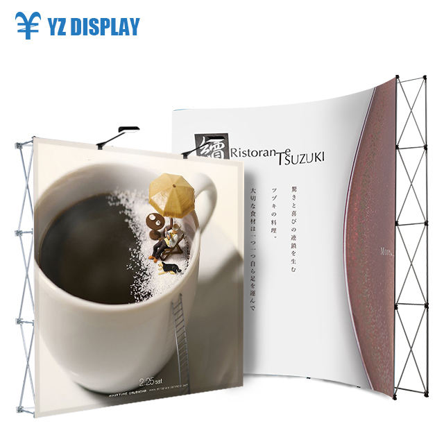 Folding Display Wall Pop Up Banner Custom Size Fold Magnetic Exhibition Stand