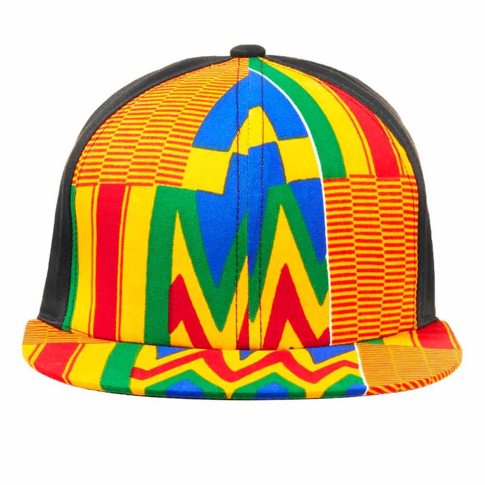 OEM Service African Kente Print 6-Panel Multip Unisex Baseball Cap Wholesale