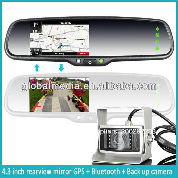 Especial para hyundai coche gps espejo retrovisor con homelink, tmc, la función bluetooth