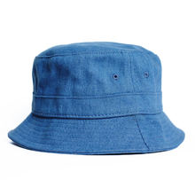 Summer hat for men wholesale blue denim sun bucket hat