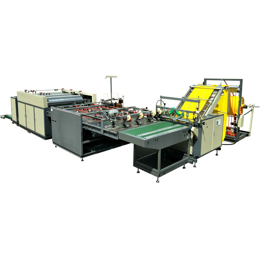 Automatic electric PP woven bag cutting sewing stitching and printing press plastic bag making machine production line