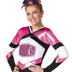 Youth Pink Glitter girls cheerleader uniform cheer wear outfits