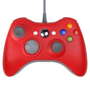 USB Wired Gaming Controller Gamepad Joypad für Xbox 360 Konsole Rot