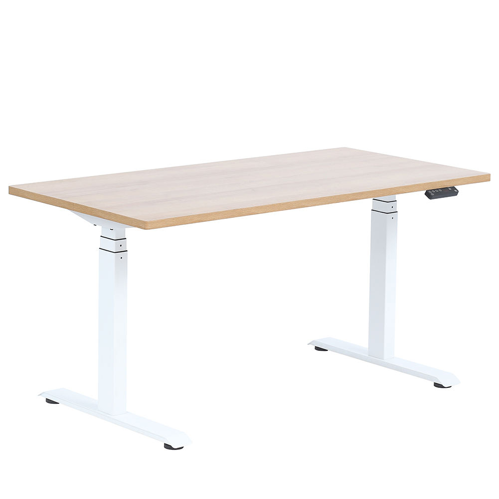 Double motors electric sit to stand height adjustable teaching desk