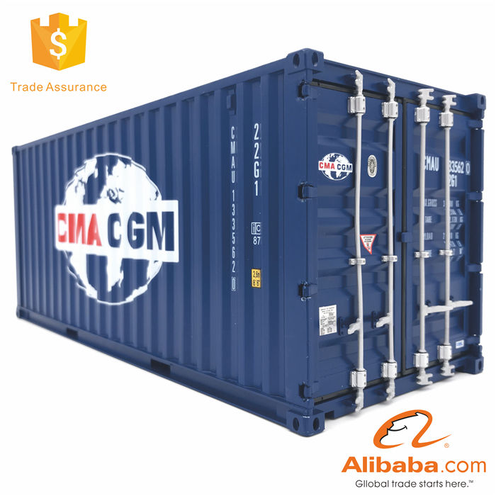 1//50 20GP Alloy Model of international shipping freight container 5 spraying