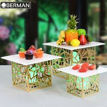 Outdoor catering equipment wedding banquet high quality beautiful high tea stand cake display party buffet plate with recess